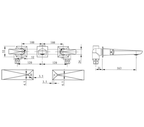 Technical drawing QS-V82354 / THPRG10