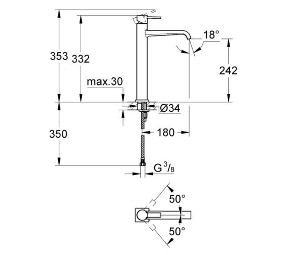 Technical drawing QS-V81729 / 23403000