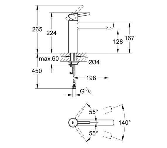 Technical drawing QS-V81736 / 31128001