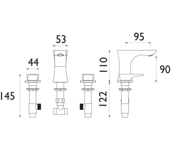 Technical drawing QS-V82361 / TLYCG06