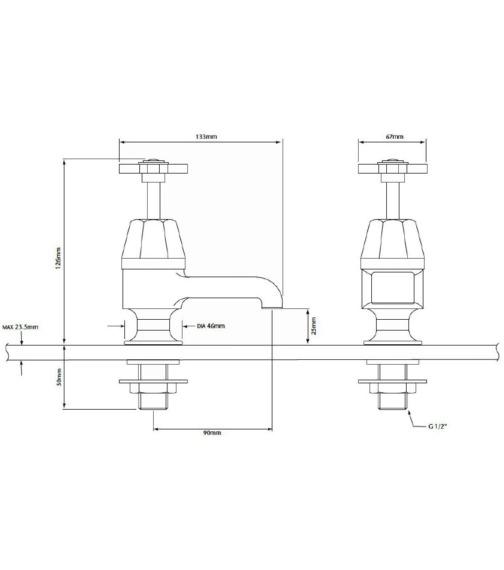 Technical drawing QS-V82342 / TGRDMOP00