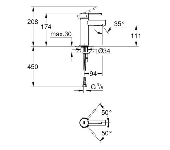 Technical drawing QS-V81744 / 34294001
