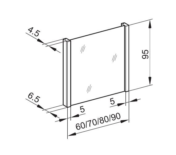 Technical drawing QS-V16650 / HSP/MOD 60/FL