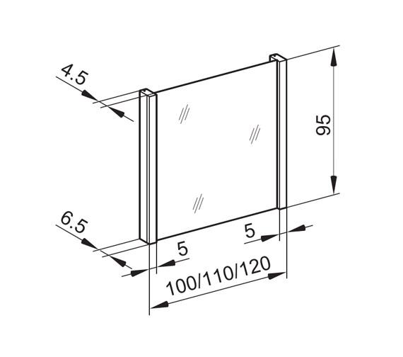 Technical drawing QS-V16656 / HSP/MOD 120/FL