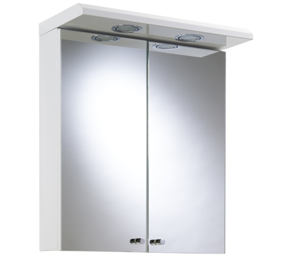 Croydex Shire White Double Door Illuminated Cabinet 450 x 530mm