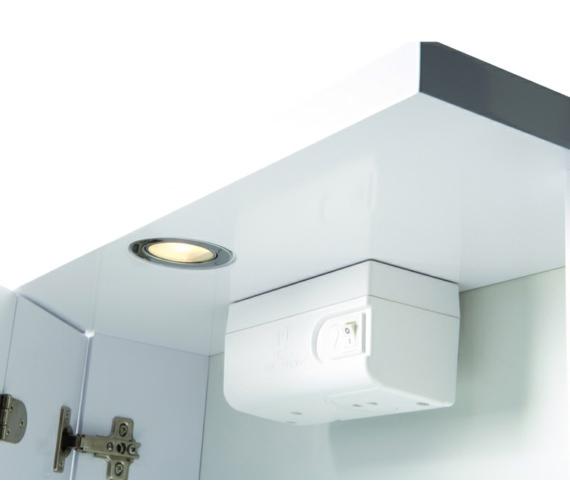 Alternate image of Croydex Shire White Double Door Illuminated Cabinet 450 x 530mm