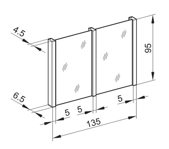Technical drawing QS-V16657 / HSP/MOD 135/FL