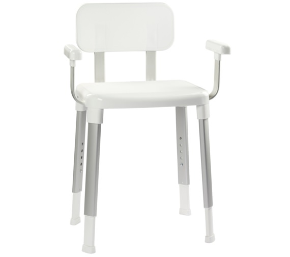 Croydex Modular White Shower Seat With Arms