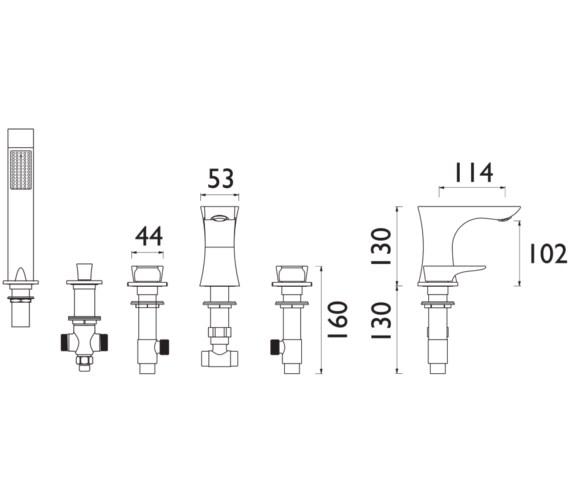 Technical drawing QS-V82364 / TLYCG074