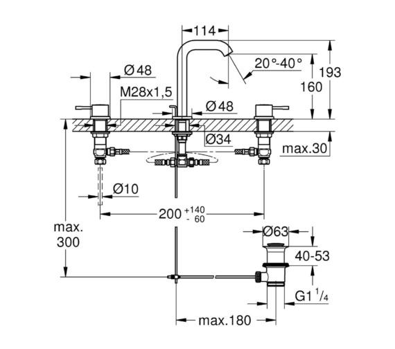 Technical drawing QS-V81740 / 20296001
