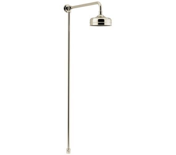 Heritage Vintage Gold Shower Rigid Riser Fixed Kit With Rose