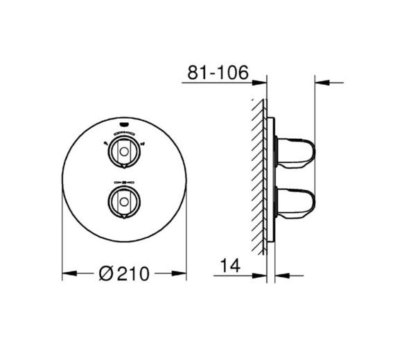 Technical drawing QS-V81828 / 19985000