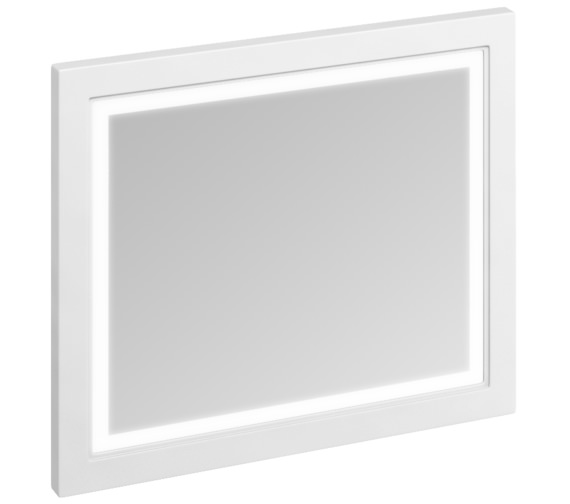 Burlington 900mm Matt White Framed Mirror With LED Illumination
