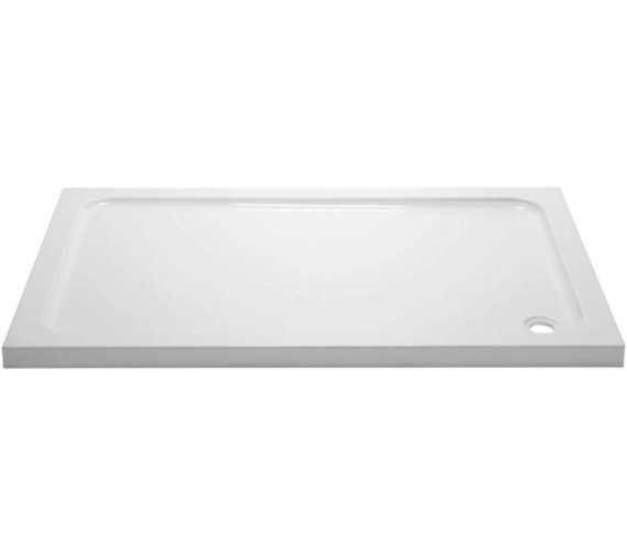 April Standard Slimline 45mm Stone Resin Rectangular Shower Tray