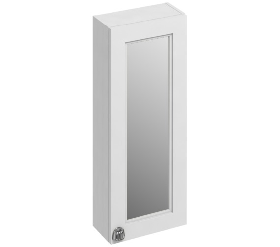 Burlington 300mm Matt White Single Door Mirror Cabinet