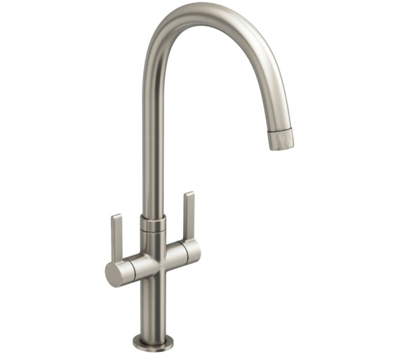 Abode Linear Style Brushed Nickel Monobloc Kitchen Mixer Tap