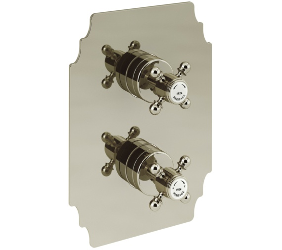 Heritage Hartlebury Recessed Thermostatic Gold Shower Valve With 2 Outlets