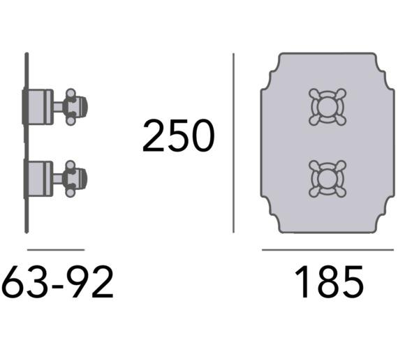 Technical drawing QS-V82403 / SHDC03