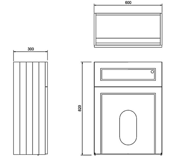 Technical drawing QS-V83785 / W60W