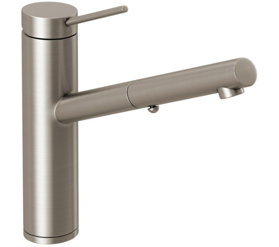 Abode Pluro Brushed Nickel Pull Out Spray Kitchen Mixer Tap