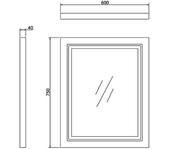 Technical drawing QS-V83789 / M6MS