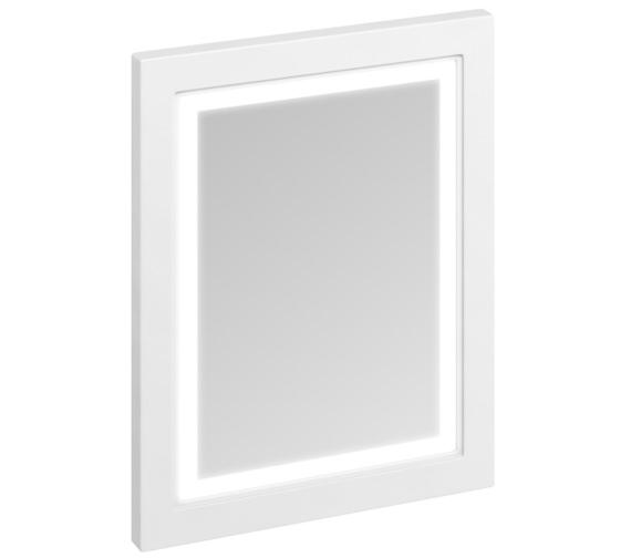 Burlington 600mm Matt White Framed Mirror With LED Illumination