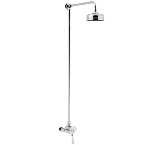 Heritage Glastonbury Exposed Thermostatic Chrome Valve With Rigid Riser