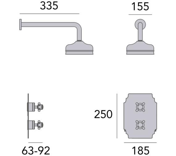 Technical drawing QS-V82410 / SHDDUAL04
