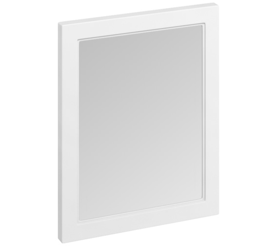 Burlington 600 x 750mm Matt White Framed Mirror