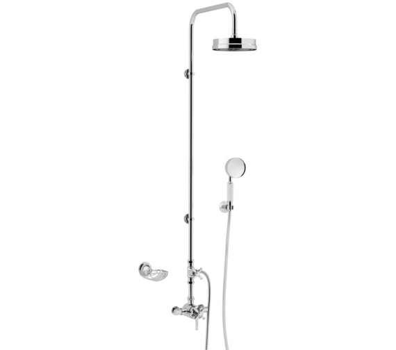 Heritage Somersby Exposed Thermostatic Valve With Rigid Riser And Handset