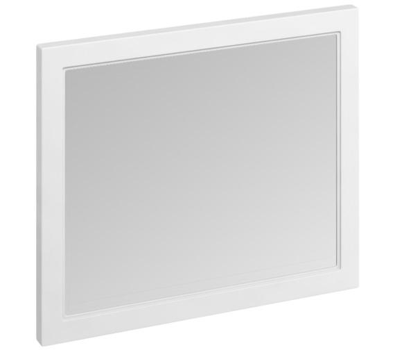 Burlington 900 x 750mm Matt White Framed Mirror