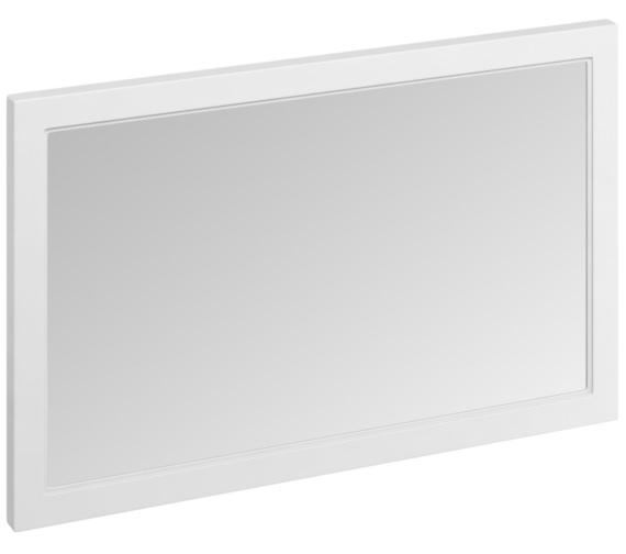 Burlington 1200 x 750mm Matt White Framed Mirror