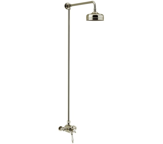 Heritage Hartlebury Exposed Thermostatic Vintage Gold Valve With Rigid Riser