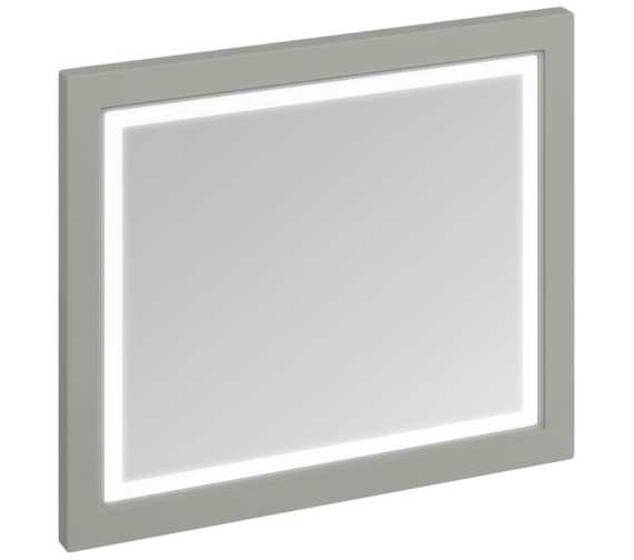Burlington 900mm Dark Olive Framed Mirror With LED Illumination