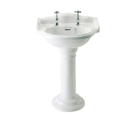Phoenix Balmoral 530mm Round Cloakroom Basin With Pedestal