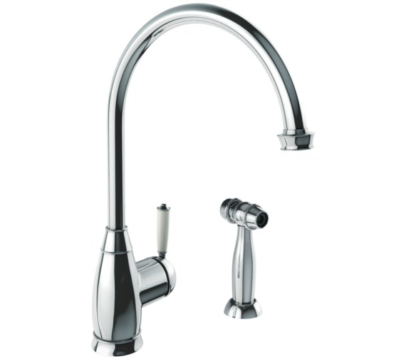 Abode Astbury Chrome Single Lever Kitchen Mixer Tap With Handspray
