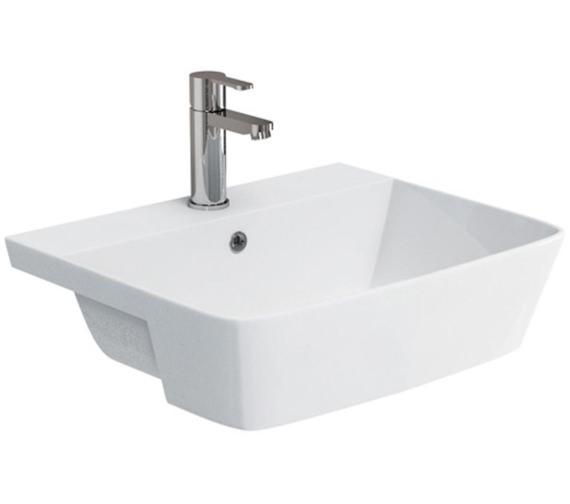 Britton Fine S40 550mm Semi Recessed Basin