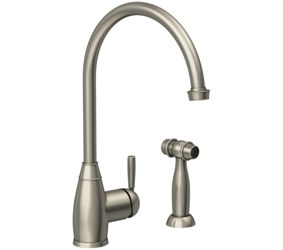 Abode Brompton Pewter Single Lever Kitchen Mixer Tap With Handspray