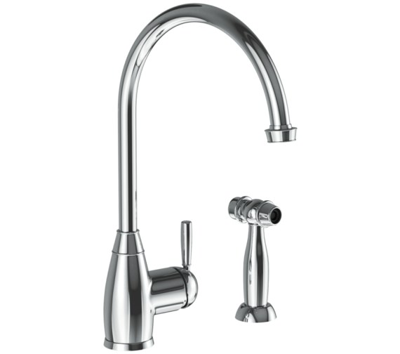 Abode Brompton Chrome Single lever Kitchen Mixer Tap With Handspray