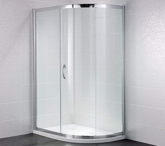 April Identiti2 900 x 760mm Single Door Shower Offset Quadrant