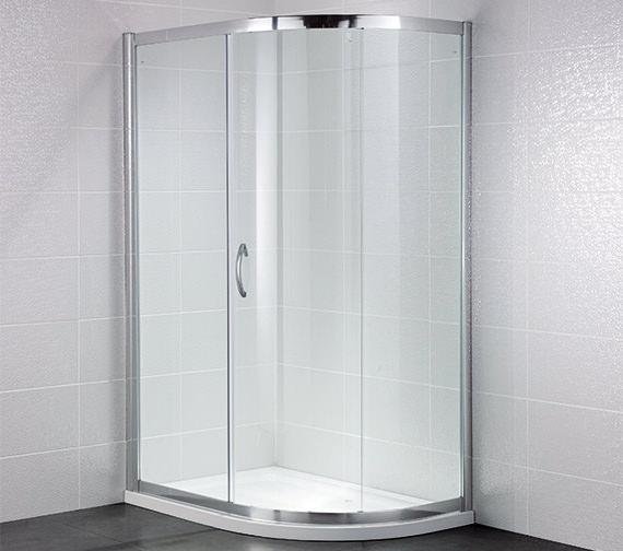 April Identiti2 1000 x 800mm Single Door Shower Offset Quadrant