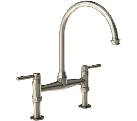 Abode Brompton Pewter Bridge Kitchen Mixer Tap