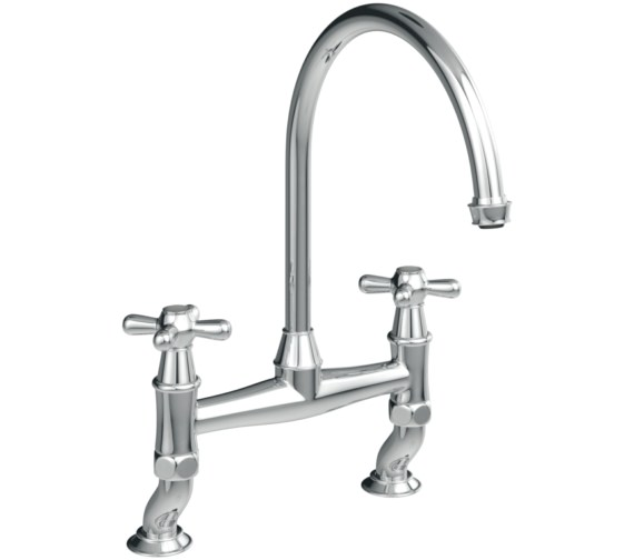 Abode Langley Bridge Kitchen Mixer Tap Chrome
