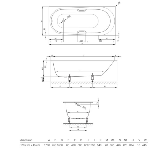 Technical drawing QS-V10857 / 1250 000