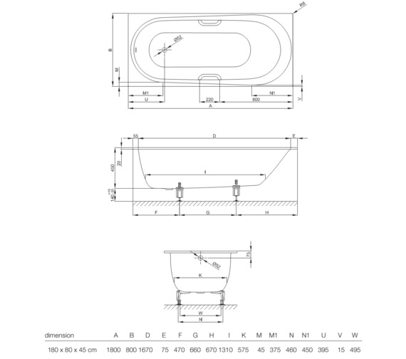 Technical drawing QS-V10858 / 1251 000