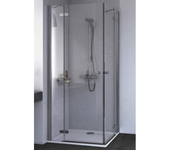 Aqualux ID Match Round 800 x 800mm Corner Entry Shower Enclosure