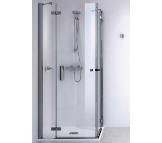 Aqualux ID Match Square 900 x 900mm Corner Entry Shower Enclosure