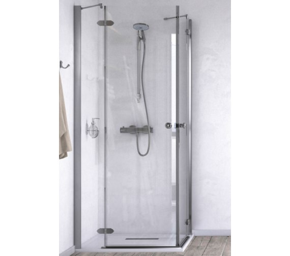 Aqualux ID Match Time 900 x 900mm Corner Entry Shower Enclosure