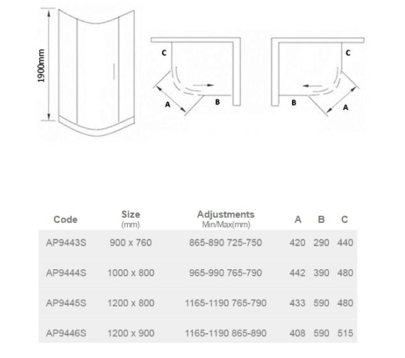 Technical drawing QS-V23367 / AP9445S