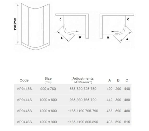 Technical drawing QS-V23366 / AP9444S